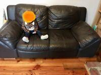 FREE brown/black 2 seater sofa