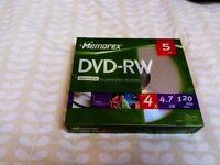 Pack of 5 DVD-RW Discs