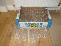GLASSES.DRINKING GLASSES.JOB LOT.ONLY £2 THE LOT.IDEAL FOR PARTY OR BBQ