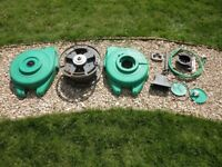 Hozelock Autoreel 15m Wall Mounted Hosereel Rewinding System in parts - Sold as Spares or Repair.