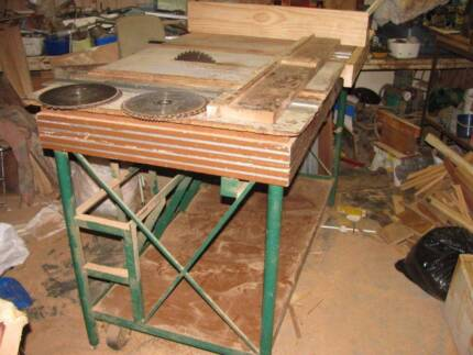 Bench saw and planer power tools gumtree australia fraser table saw bench greentooth Images