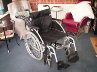 Wheelchair for sale. Plus,One transporter chair if interested Ill quote sep price