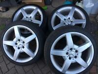 "Genuine Mercedes AMG Staggered 18"" Alloys"
