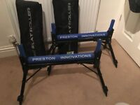 Two Preston Innovations Flat Pole Rollers
