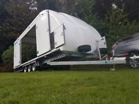 WOODFORD TRAILER COVERED CAR TILT BED TRI AXLE BOX SPORTS ENCLOSED RACE CLASSIC PRESTIGE