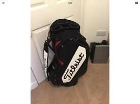 """Titleist staff bag. Used once 9.5"""""""