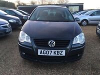 VOLKSWAGEN POLO 1.2 S HATCHBACK 5DR 2007*IDEAL FIRST CAR*CHEAP INSURANCE*EXCELLENT CONDITION*