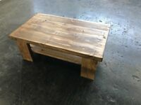 chunky farmhouse style coffee table