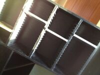 CD display case for 100 CDs - in black - wood - three available £5 each