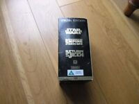 Star Wars Collectable VHS Trilogy Set In Gold Box Weymouth