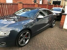 Audi A5 Quattro Sport 3.0TDI FSH Grey, 19 inch A5 Rotor Alloys and RS5 Mirrors 57 plate