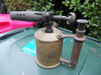 brass blow lamp vintage antique