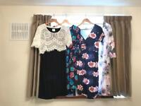 Bundle of maternity clothes size 10/12/M. Over 30 items