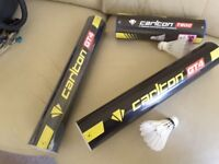 Badminton Carlton shuttlecocks 22 feather and 6 synthetic