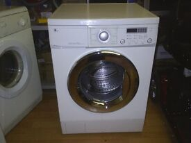 LG DIRECT DRIVE 7.5KG 1600 RPM WASHING MACHINE refurbished, in good condition