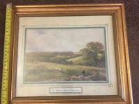 Picture framed is The Shepherds Rest by George Turner £8
