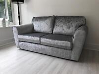 Brand new crushed velvet sofa bed metal action
