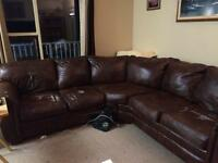 Leather couch and otter man $100.00