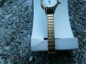 Ladies seconda rolled gold watch good condition