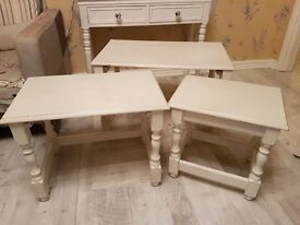 shabby chic nest of tables fully refurbished