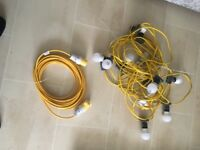 Outdoor lights 15m with 15m extention