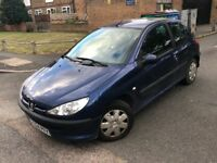 2005 PEUGEOT 206 1.4CC AUTOMATIC ONLY 40,000 GENUINE MILES FULL SERVICE HISTORY LONG MOT 2 KEYS
