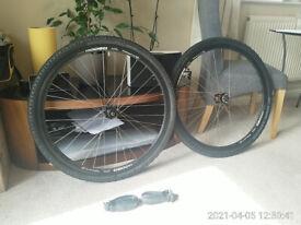Bicycle 700c disk wheels , Alex rims 44mm tires