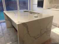 Kitchen worktop, quartz granite and marble