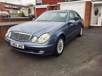 Mercedes E-Class, 2003 New Shape, Automatic, 2.2 CDI DIESEL, Grey, 11 MONTHS MOT, Service History