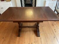 Vintage 1940s Oak Refectory Table and Chairs