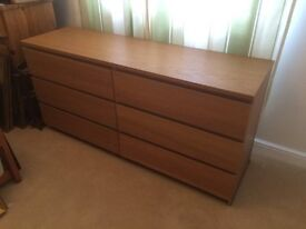 Ikea MALM Chest of Drawers - Oak Effect - £20