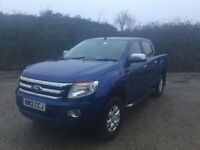 2012 FORD RANGER XLT 150 CREWCAB 1 OWNER £7000 @ SERVICE HISTORY BILLS NEW TURBO 6 SPEED MANUAL 2,2