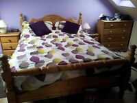 Solid Wood Queen Size Double Bed Frame