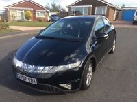 2007 HONDA CIVIC SPORT I-VTEC 5 door Hatchback. £1950