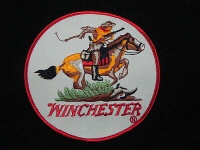 WINCHESTER HORSE AND RIDER PATCH LARGE ABOUT 4 INCH FREE SHIPPING