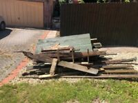 Free old riped out fencing