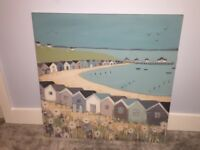 Next seaside theme canvas 80x80cm turquoise pastel colours