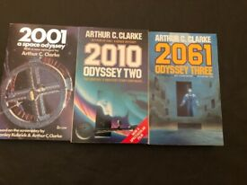 3 Arthur C Clarke Paperback Books