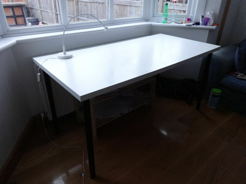 Big desk table ikea linnmon adils in wandsworth london gumtree
