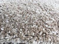 Biscuity shaggy rug