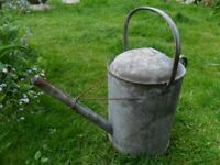 Vintage Large Galvanised Watering Can Garden Planter Allotment-3 Gallons-Collect