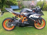 ktm 125 rc 2016 with crash helmet ktm service history stunning bike.