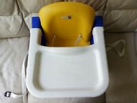 Toddler's booster seat with feeding tray