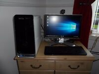 Dell Studio Full Desktop PC, i5 Quad Core CPU, 6GB Ram, 500GB HDD, WiFi, AMD HD Graphics, Win 10