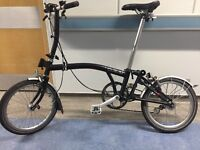 Brompton S3L Folding bike in Excellent condition
