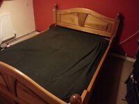 Oak bed frame, no slats.
