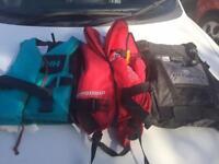 3 life jackets buoyancy aids