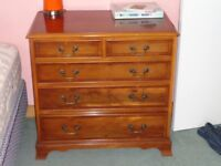 Reproduction wood chest of drawers