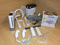 Nintendo Wii Bundle with 12X games, 2X Controllers & Accessories