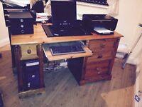 Antique Pine office desk